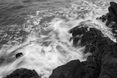 Rocks formation in the sea close up view Stock Photo