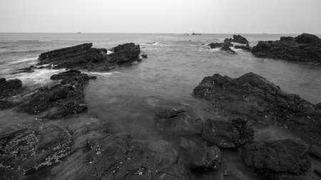 Rocky beach scenery