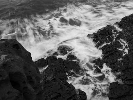 Rocks formation in the sea close up view Фото со стока