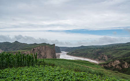 Taichi Bay, the Yellow River Stok Fotoğraf