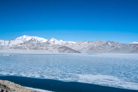 Scenery of Baisha Lake, Kashi, Xinjiang