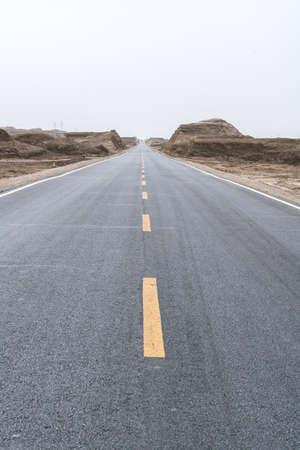 Qinghai Yadan Landform Highway road