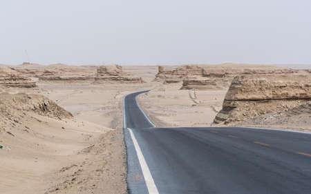 Yadan Landform Highway, Qinghai Province, China