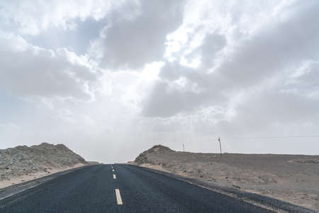 Haixi Desert Highway, Qinghai Province, China