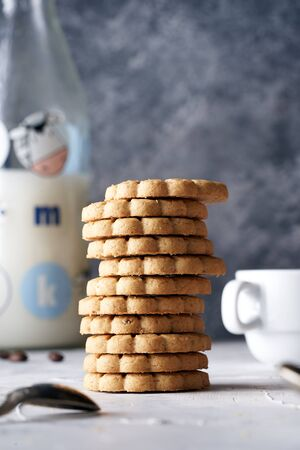 stack of cookies ready for breakfast