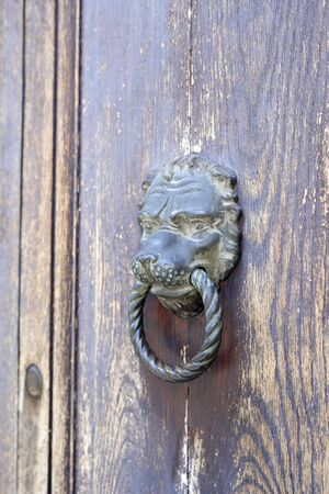 An old door knocker detail