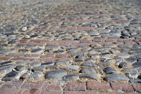 A street paved in stone