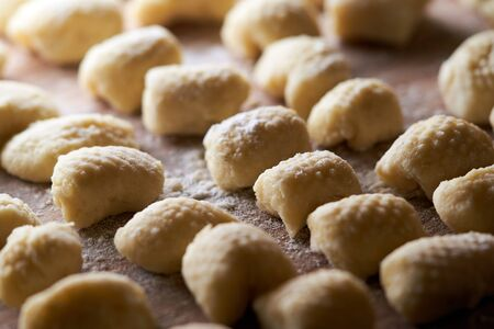 A close up of food: italian gnocchi