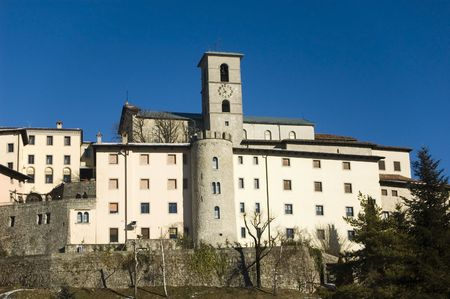 Church/town of Castelmonte (Italy, Europe) with clear blue sky in the background Stock Photo - 4390712