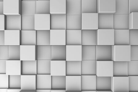 Abstract background with gray cubes set one next to another