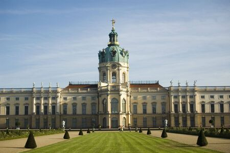Charlottenburg castle in Berlin, Germany. View on the palace from the park.