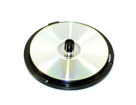 dvds: Pile of CDs or DVDs on a white background