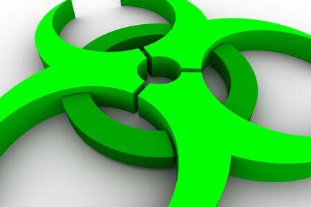 Green biohazard symbol on white background Stock Photo - 4546705
