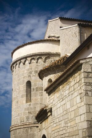 Castle like church architecture in Krk, Croatia Stock Photo