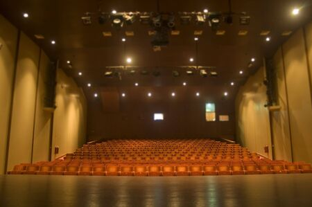 A hall with seats seen from the stage