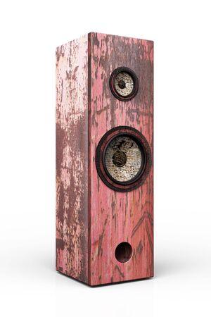 Grunge speakerbox isolated on white background