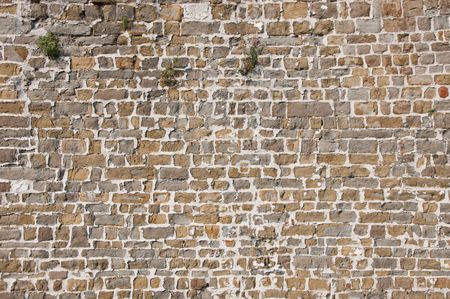 Texture of a big wall of the medieval castle photo