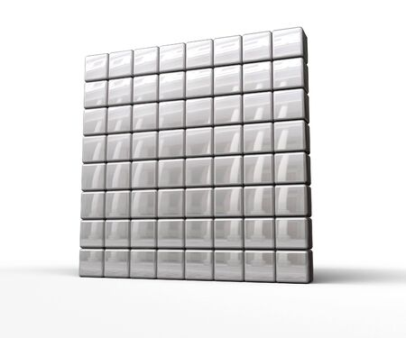 Blank 8 x 8 segment matrix on white background. You can select and colorize the dots you like to create your own symbols. Stock Photo