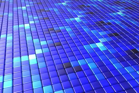 Abstract background made of a net of blue cubes
