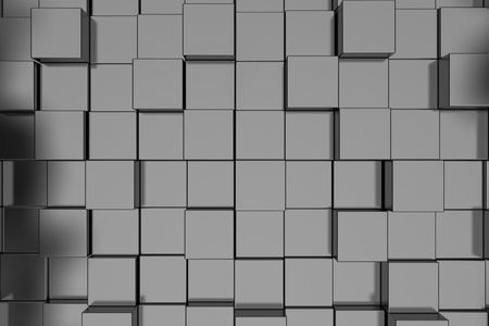 Abstract background with rendered gray cubes