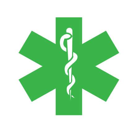 logo medicina: Illusration s�mbolo de la medicina Vectores
