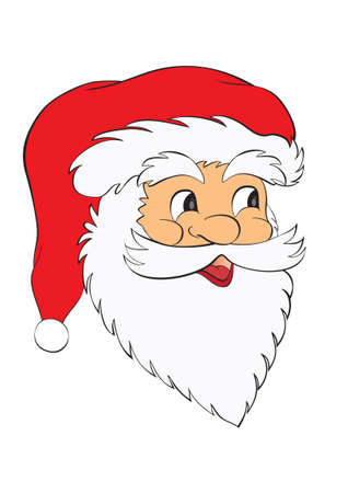 face santa claus isolated i white background Vector