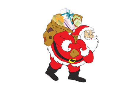 figure of Santa Claus with a bag of gifts.