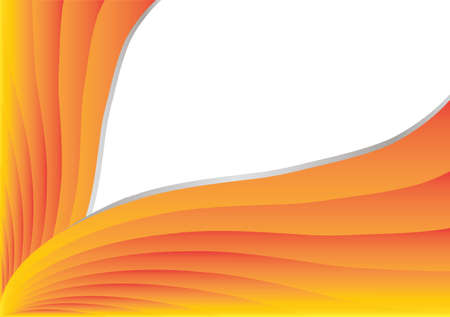orange stripes in white background. space for your text.