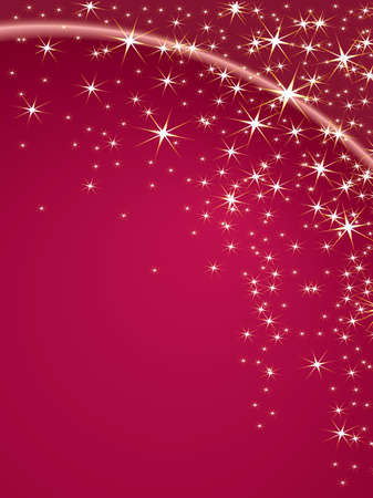 Christmas theme with stars on a pink background Vector