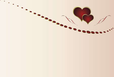 day saint valentin: Valentines day card with hearts and space for text Illustration