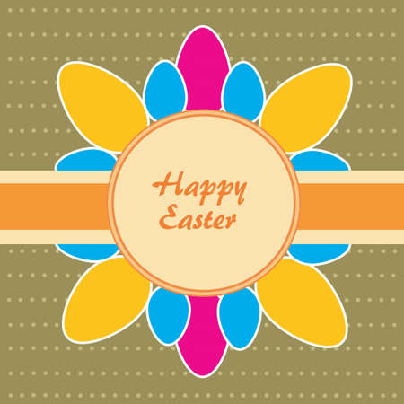 Easter theme  Background with dost and eggs  Vector