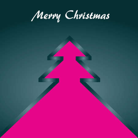 Christmas theme  Gray backround with Christmas tree   Vector