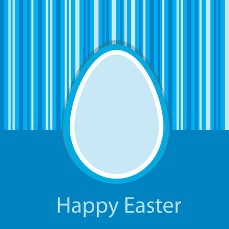 Blue Easter card with one egg Illustration