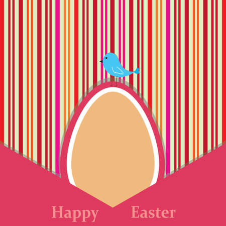 Colorful striped background with easter theme