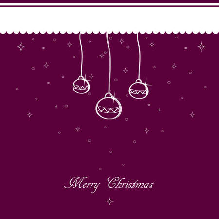 Purple Christmas background vector with Christmas ornament Vector