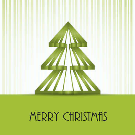 Christmas vector with stripes and christmas tree  EPS10 Illustration