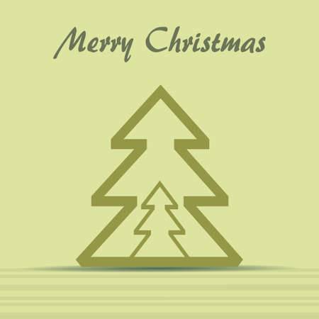 Christmas theme with christmas tree  Vector eps10 Vector