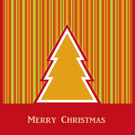 Christmas color vector with striped background Illustration