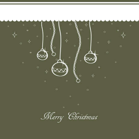 Gray Christmas background with Christmas ornaments  Vector EPS10