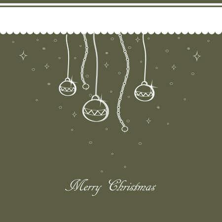 Grijze Kerst achtergrond met kerst ornamenten Vector EPS10