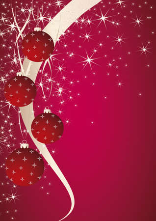 christmas theme  Pink background with christmas ball  Vector