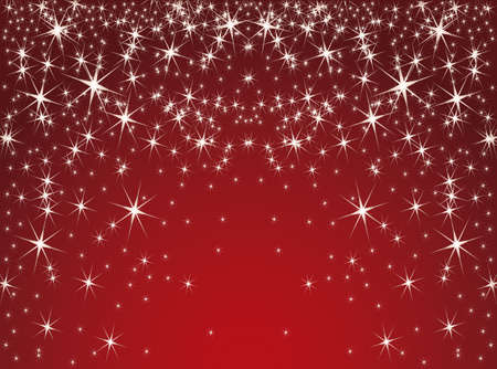 red background with stars  Vector EPS10
