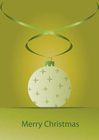 christmas motive: Green Christmas card with christmas ornament  Vector EPS10 Illustration