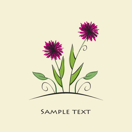 vector colorful flower background
