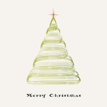 isolated green Christmas tree Vector