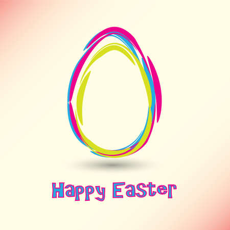 Vector Happy Easter Card Vector