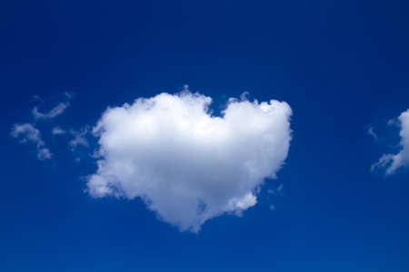 sky  cloud in the shape of heart Stock Photo