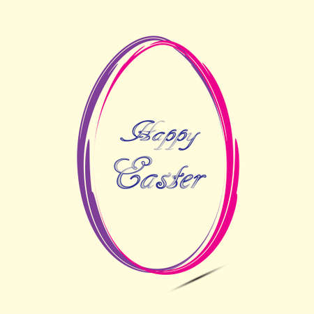 Easter card with egg, Vector. Illustration