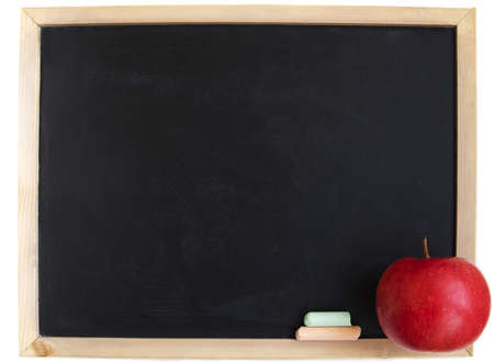 A blank school chalkboard, you can add your text on it photo