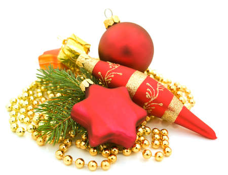 Christmas pine and baubles Stock Photo - 15445737
